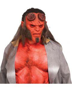 Fun World Hellboy™ 2019 Adult Memory-Flex Mask™ Over Head Mask, One-Size, Red