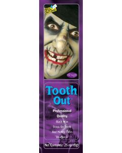 Fun World Professional Quality Tooth Out Wax Makeup, .25oz, Black