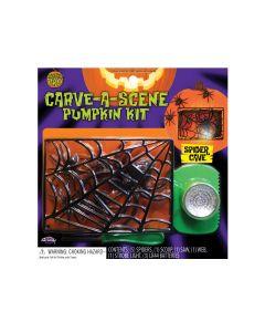 Fun World Carve-A-Scene Spider Cave 8pc Pumpkin Carving Kit, Black