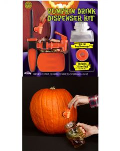 Fun World Pumpkin Drink Kit 4pc Pumpkin Carving Accessory, 2 Liters, Orange
