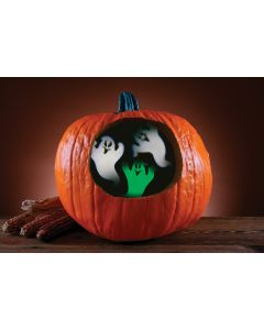 "Fun World Ghost Pumpkin Projector Pumpkin Carving Accessory, 3.5"", Green White"