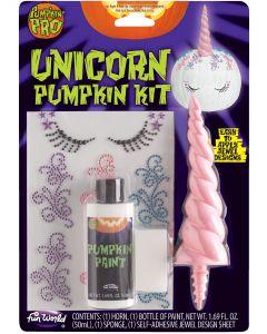Magical Unicorn Pumpkin Halloween Carving Accessory Kit, 1.69 oz Paint, Pink White