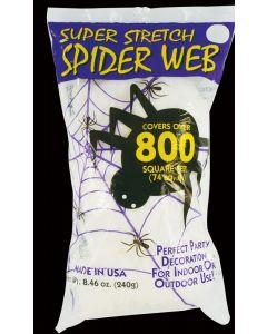 Fun World Super Stretch Halloween Spider Webbing Hanging Decoration, 240g, White