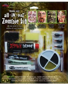 All-In-One Zombie Family Deluxe Complete Makeup 12pc Special Effects Kit