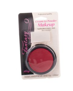 Professional Halloween Character Cream-to-Powder Cake Makeup w Sponge, 13g, Red
