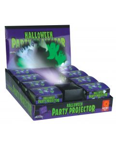 """Halloween Witches and Bats Party Projector Decoration Prop, 3"""", Green Purple"""