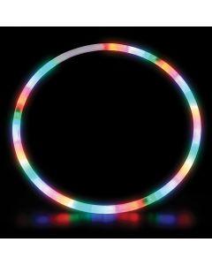 "Rinco Light-Up Twist Hula Hoop 28"" LED Hula Hoop, Red Green Blue"