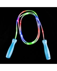 """Rinco Flashing Light-Up Outdoor Toy 100"""" LED Jump Rope, Red Green Blue"""