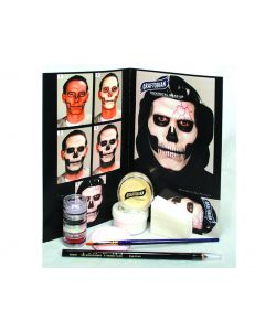 Graftobian Skull Complete Character Skeleton 13pc .5 oz Makeup Kit, White Black