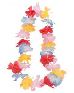 "Hawaiian Luau Party Hula Girl 2in Petal Fabric Flower 36"" Leis, 24 CT"