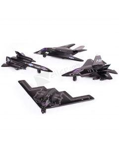"Fighter Bomber Jet X Force Commander 4.5"" Pull Back Die Cast Model"