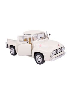 "1956 Classic Ford F-100 Pick-Up Truck 5"" Pull Back Die Cast Model, White"