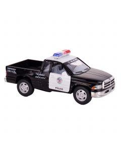 """Kinsmart Dodge Ram Pick-up Truck Police 5"""" Pull Back Die Cast Model, Black White"""