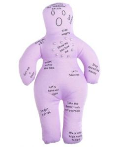 "Kheper New Wife Voodoo Doll Bachelor Party 9"" Adult Gag Gift, Purple"