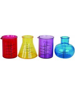 Kheper Chemistry Novelty Beaker Shot Glass Set 1 oz Shot Glasses, 4 Pack