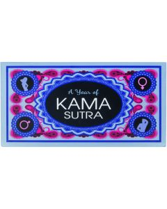 Kheper A Year of Kama Sutra Adult 6.5 in Couples Adult Game, Blue Pink