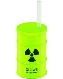 Kheper Glow in the Dark Radioactive Barrel 20 Oz Party Cup, Green