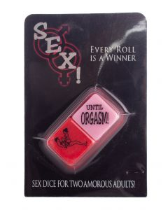 "Kheper Sex! Dice Bedroom Fun 2pc 1"" Couples Adult Game, Pink Red"