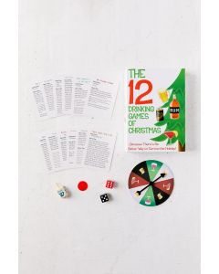 "The 12 Drinking Games Of Christmas Party 18pc 7"" x 5"" Party Kit Red White Green"