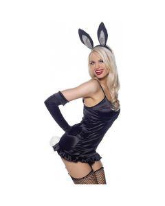 Leg Avenue Classy Sexy Bunny 3pc Costume Accessory Kit, Black White, One-Size