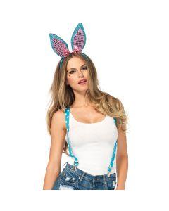 Leg Avenue Sparkle Bunny 3pc Costume Accessory Kit, Turquoise, One-Size