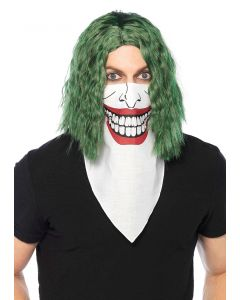 Leg Avenue Supervillain Smile Bandana Costume Accessory, White Black Red, O-S