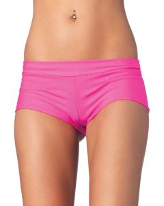 Leg Avenue Women Solid Comfortable Stretch Spandex Boy Shorts, Pink, Small 4-6