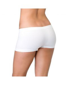 Leg Avenue Solid Rave Wear Seamless Spandex Boy Shorts, White, One-Size