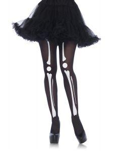 Leg Avenue Halloween Sexy Skeleton Bones Print Tights, Black White, One-Size