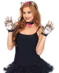 Leg Avenue Cheetah 3pc Costume Accessory Kit, Brown Black, One-Size