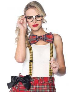 Leg Avenue Nerd 3pc Costume Accessory Kit, Red Yellow Black, One-Size