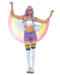 Leg Avenue Pride Festival Parade Wings Flag Wings, Rainbow, One-Size