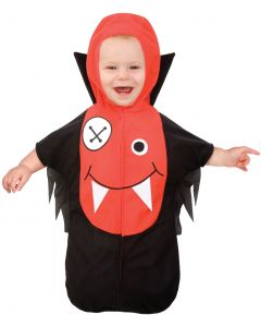Living Fiction Lil Vampire Baby Monster Infant Costume, Large 12-18MO, Black Red
