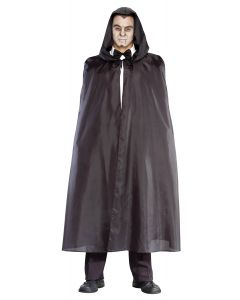 Living Fiction 52in Economy Hooded Halloween Cape, Small 38-40, Black