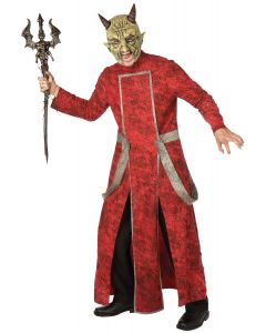 Living Fiction Red Devil Complete 2pc Men Costume, Small, Red