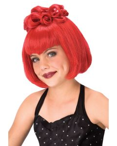 Living Fiction Bright Red Gothic Princess Scene Wig With Bangs, One Size