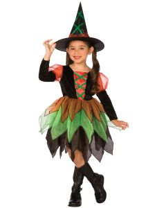 Living Fiction Halloween Harvest Witch 2pc Girl Costume, Small 4-6