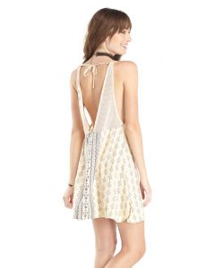 Lagaci Damask Engineer Print Tank Dress, Natural, X-Large 9-10