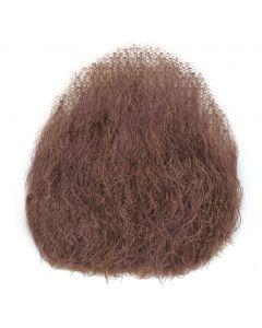 Star Power Real Human Hair Goatee Full Man Chin Beard, Brown, Small