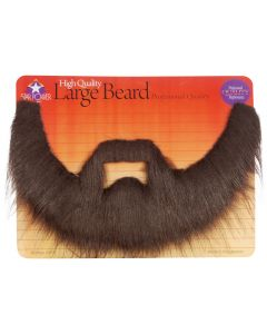 Professional Quality Long Shaggy Beard & Mustache Set, Brown, One Size