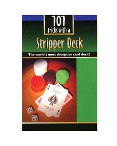 """110 Magic Tricks with a Wizard Stripper Deck Booklet 8.25"""" Magic Book"""