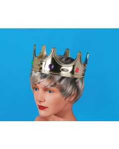 Star Power Royalty Jeweled Prince Costume Crown, Gold, One Size