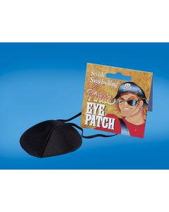 Loftus Deluxe Swashbuckling Pirate Classic Eyepatch, Black, One Size