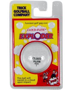 """Cloud-Flite Exploding Vanishing 1.68"""" Trick Golf Ball, White"""