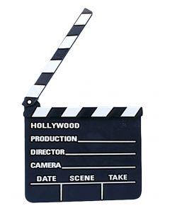 """Loftus Hollywood Movie Clapper Board Costume Accessory, Black White, 7""""x8"""""""