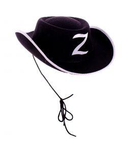 Halloween Zorro Cowboy Child Costume Hat, Black, One Size, 6 Pack