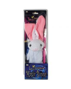 "Eddy's Magic Bunny Rabbit and Wand 13"" Magic Puppet, White Pink"