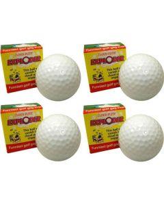 """Cloud-Flite Golfers Exploding Golf Ball Gag 1.68"""" Prank, White, 4 Pack"""