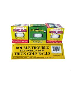 Trick Golfball Double Trouble Exploding & Unputtaball Golf Ball Gag Gift, 3 Pack