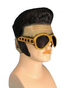 Loftus Rockstar Wig with Glasses Headpiece, Beige Black Yellow, One Size